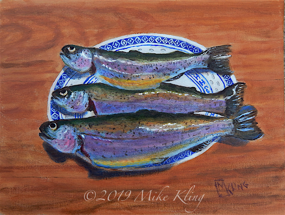 3 Trout on a Plate